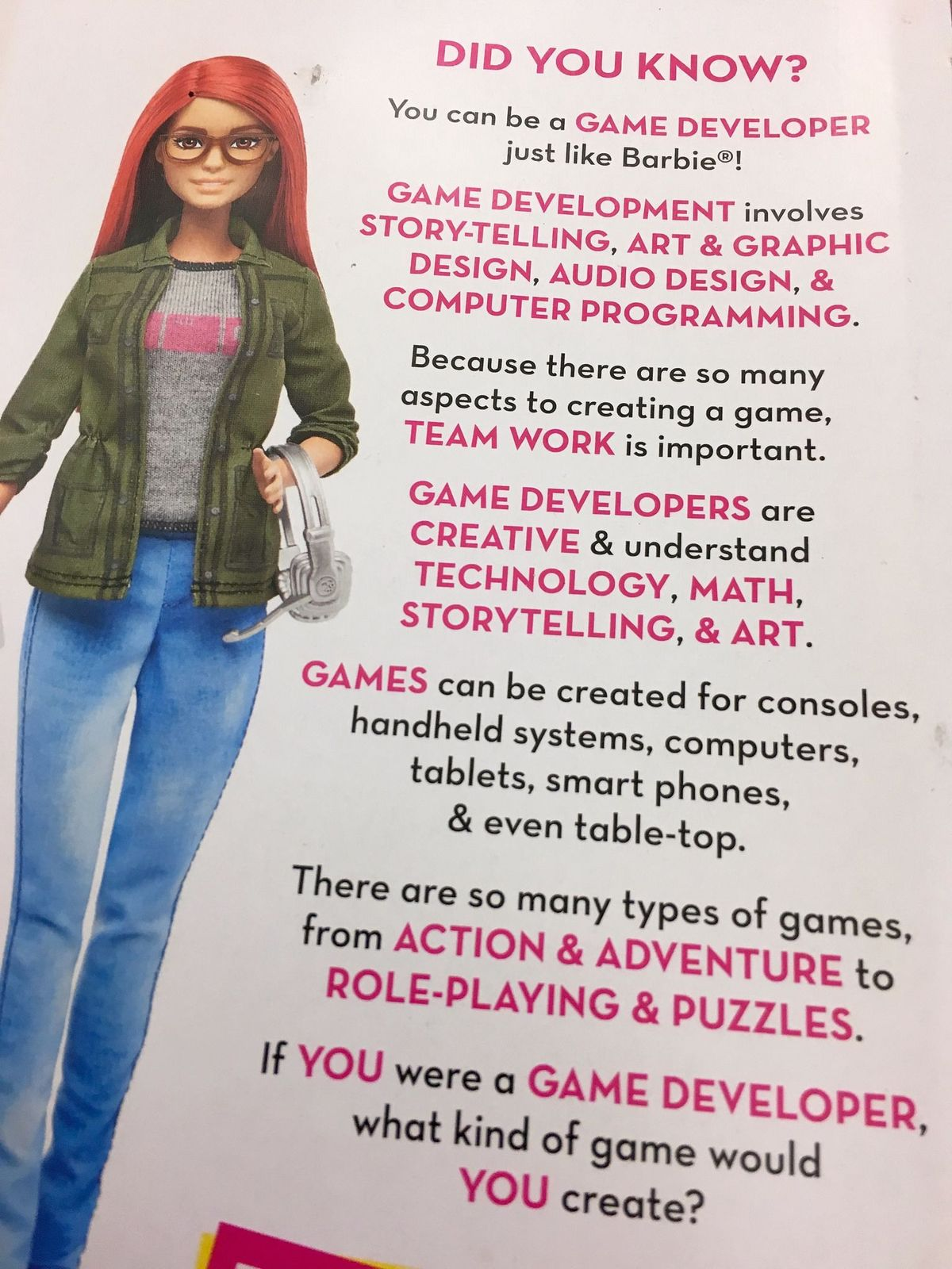 barbie game developer 2
