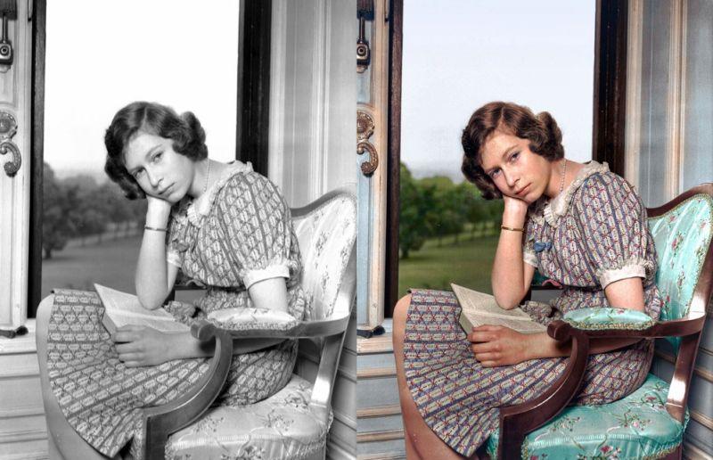 La reina Isabel II del Reino Unido
