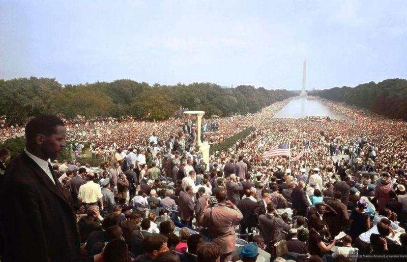 Marcha sobre Washington por el trabajo y la libertad, la manifestación más grande en la historia de Estados Unidos (1963)