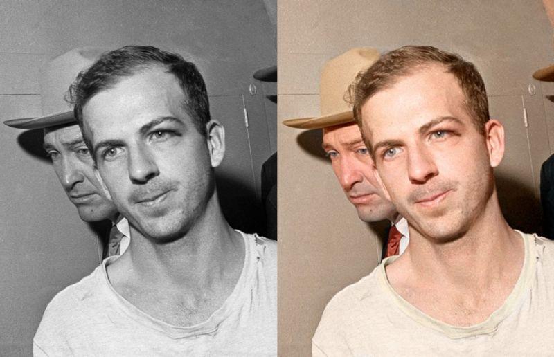 Lee Harvey Oswald, el asesino de John F. Kennedy antes de ser asesinado por Jack Ruby