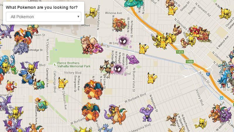 Pokemons en tiempo real pokemon go