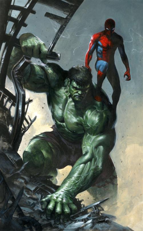 gabriele dell'otto galeria de ilustraciones hulk spiderman