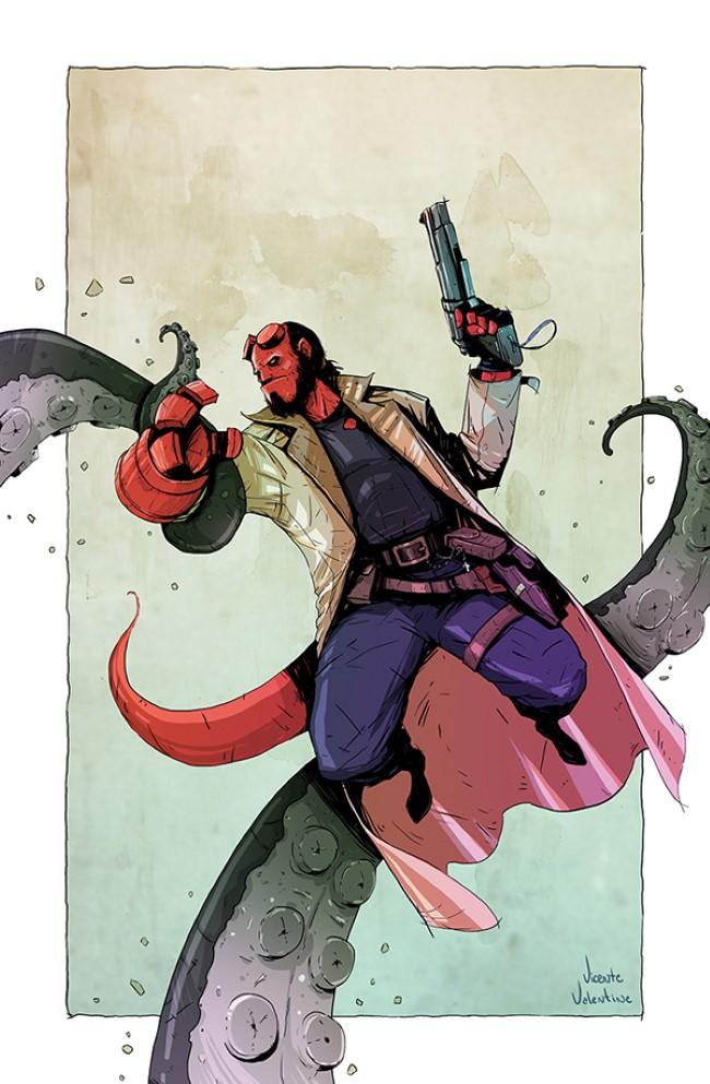 galeria de Ilustraciones tipo comic vicente valentine hellboy