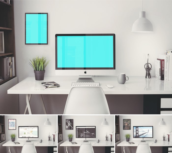 plantillas photoshop gratis oficina imac