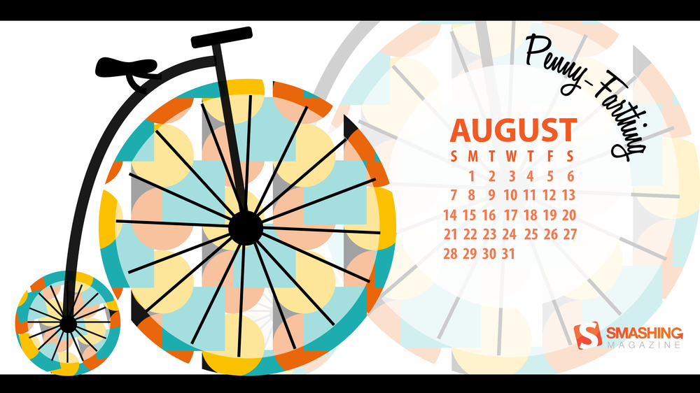 Wallpapers con calendario de Agosto 1