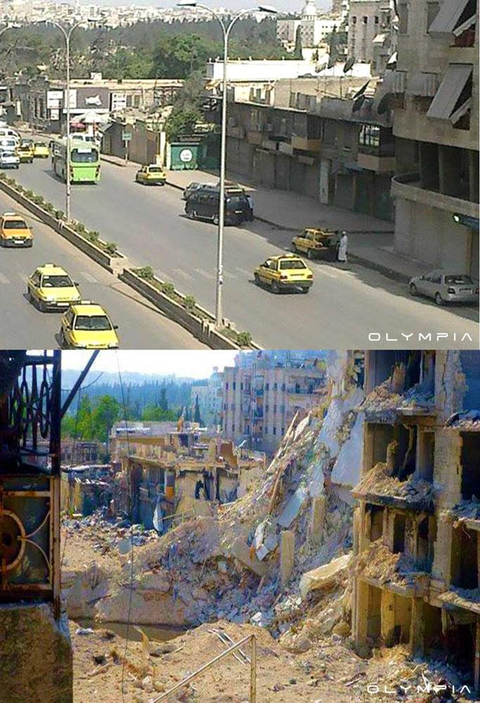 fotos de Syria antes y despues de la guerra 10