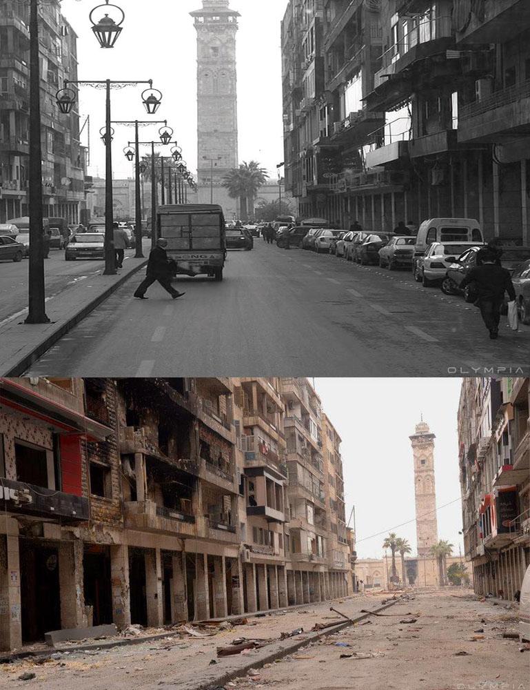 fotos de Syria antes y despues de la guerra 11