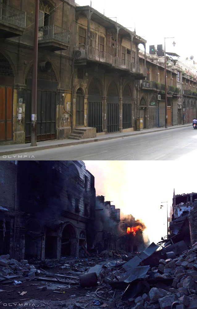 fotos de Syria antes y despues de la guerra 14