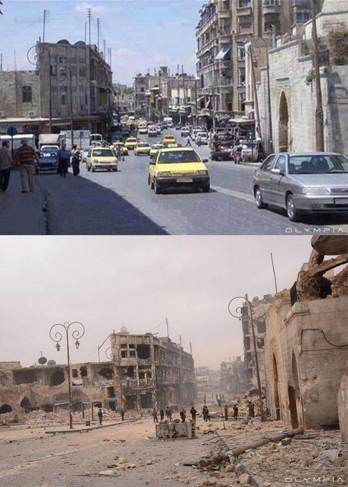 fotos de Syria antes y despues de la guerra 15
