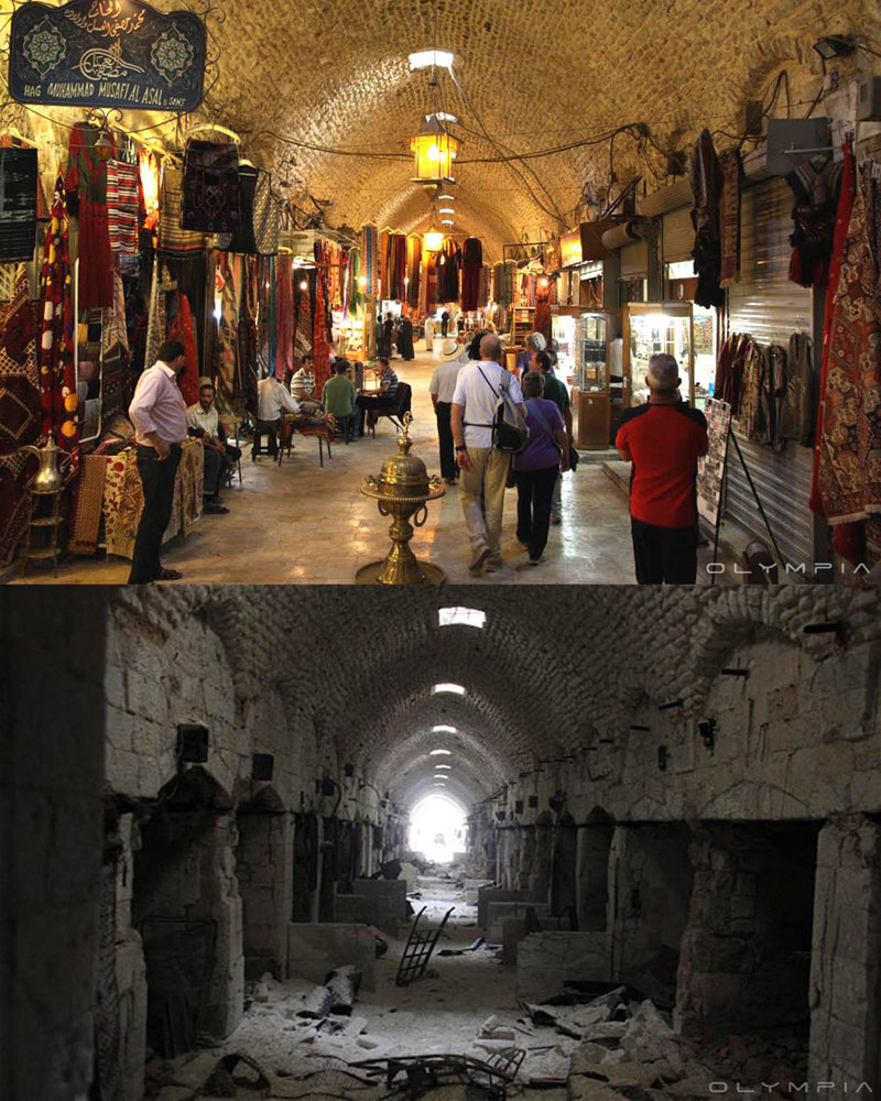 fotos de Syria antes y despues de la guerra 16
