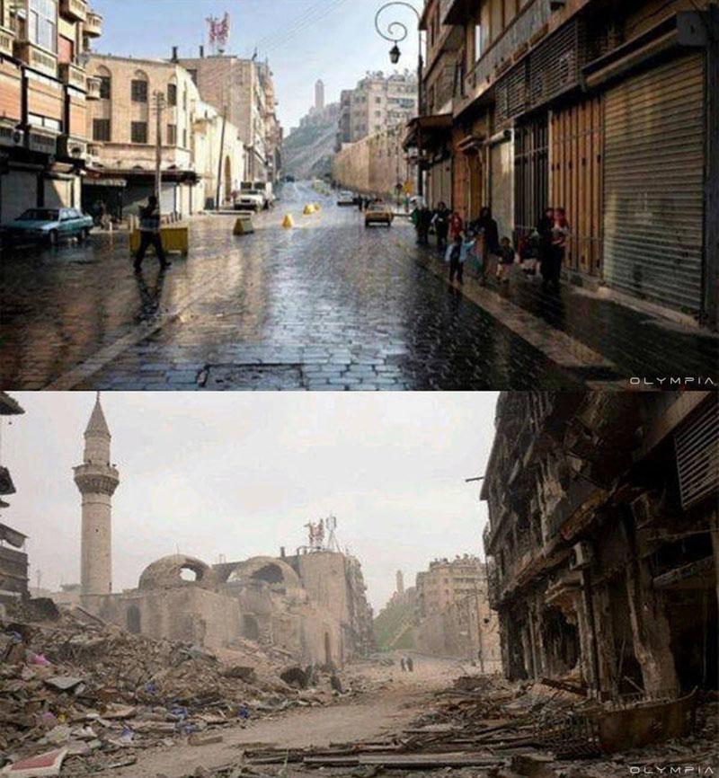 fotos de Syria antes y despues de la guerra 17