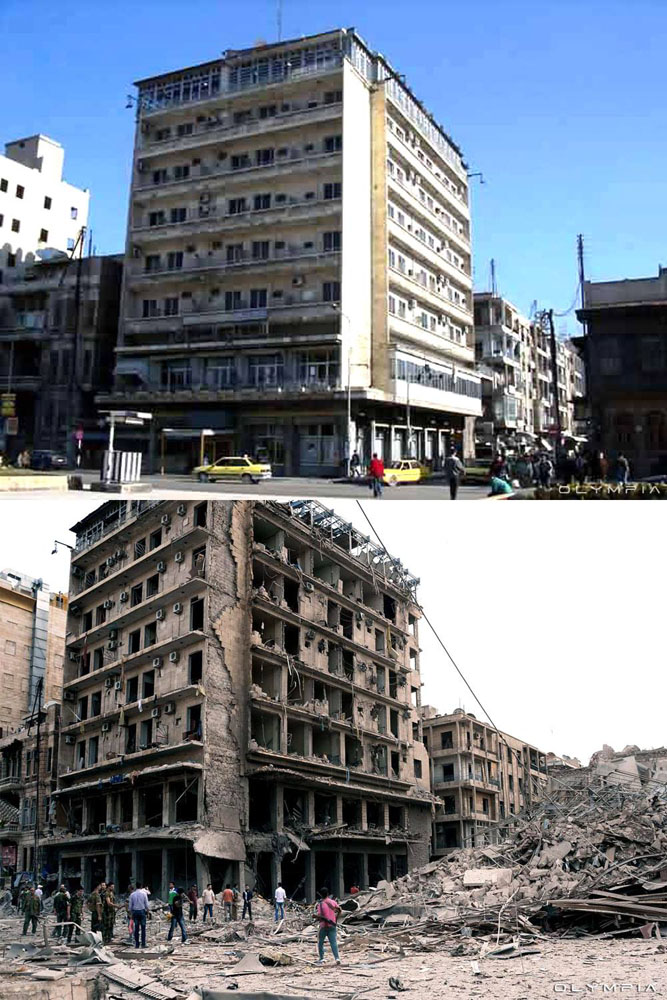 fotos de Syria antes y despues de la guerra 18