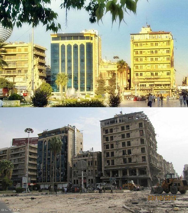 fotos de Syria antes y despues de la guerra 6