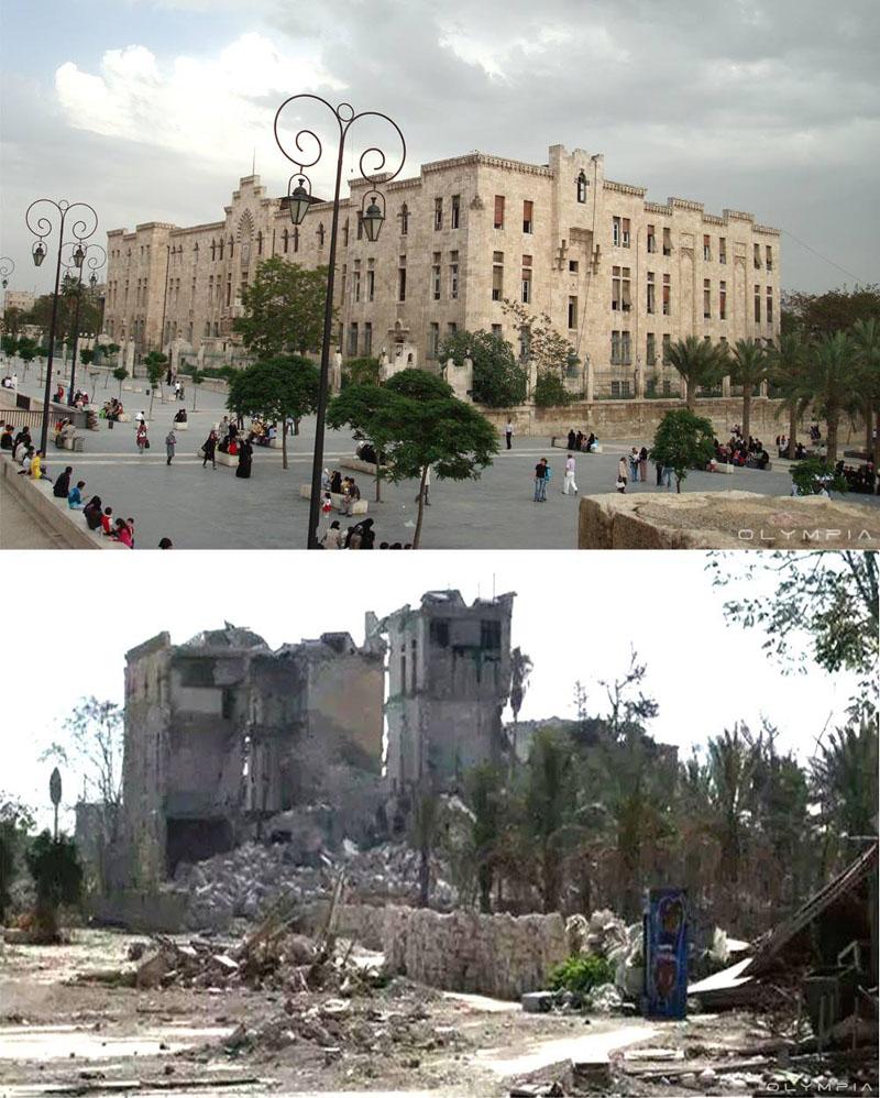 fotos de Syria antes y despues de la guerra 8