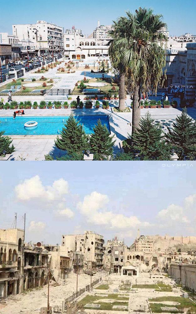 fotos del antes y despues de la guerra en syria 1