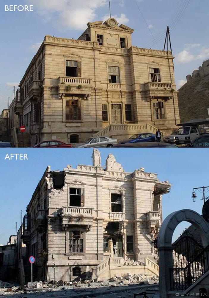 fotos del antes y despues de la guerra en syria 3