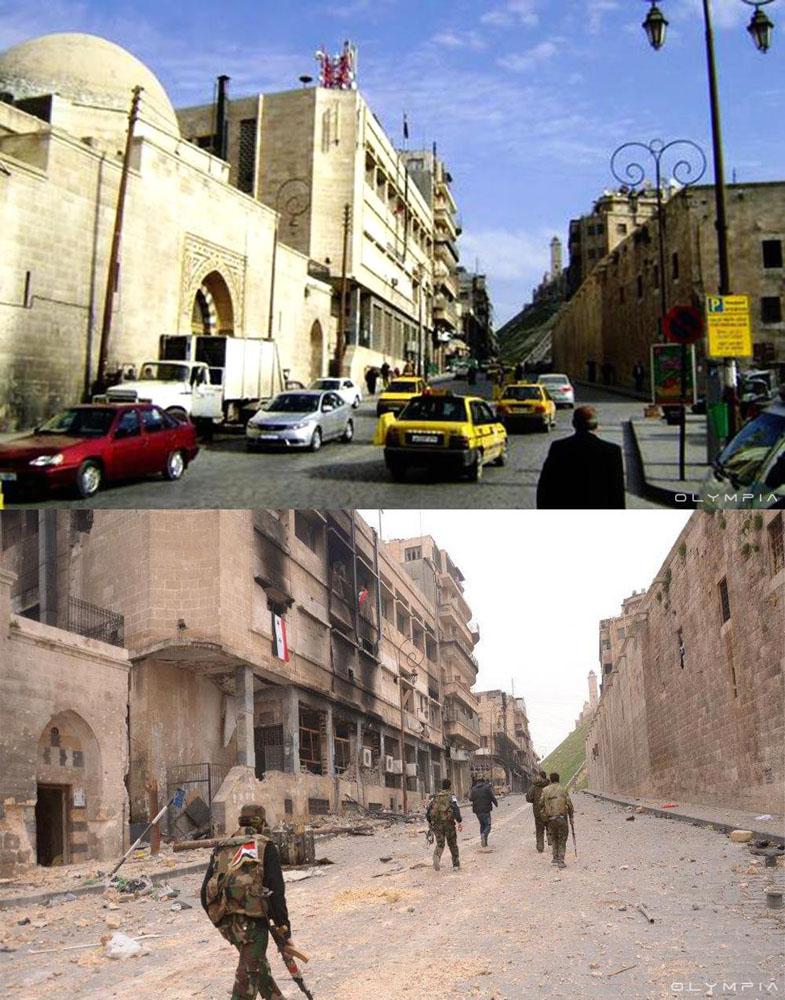 fotos del antes y despues de la guerra en syria 4