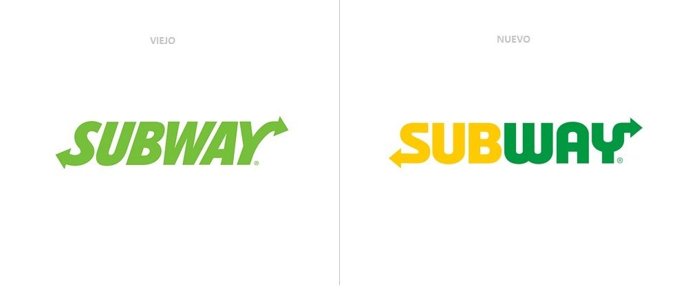 logo de subway antes y despues