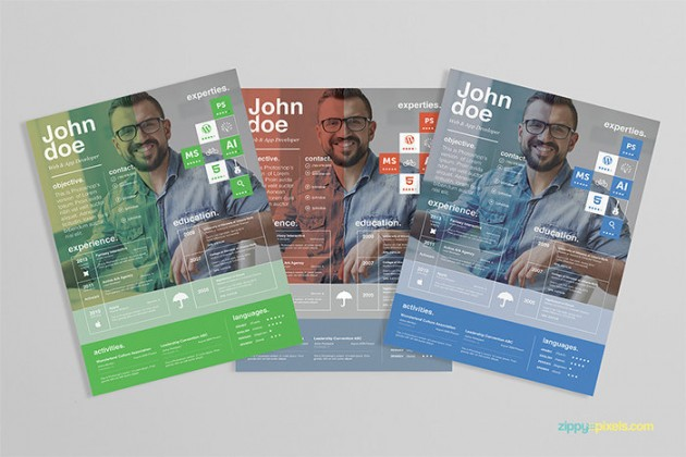 Free Resume Template cover