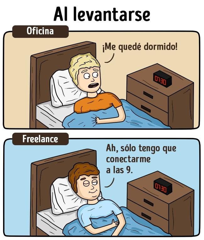La vida del freelance
