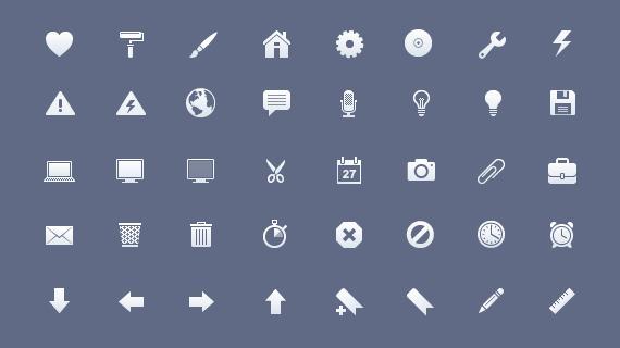 iconos elegantes y minimalistas