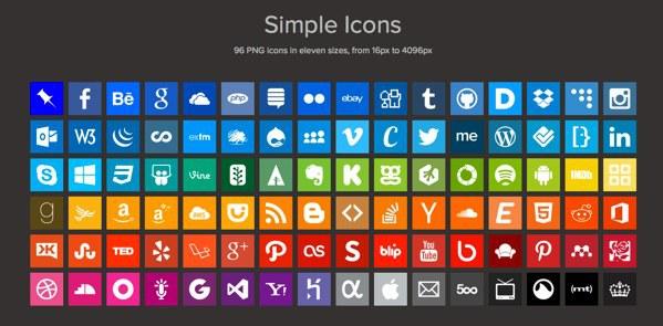 iconos web de marcas y redes sociales