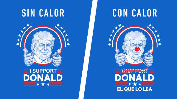 campaña que se burla de Donald Trump