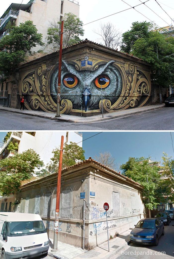antes y después de un toque artístico