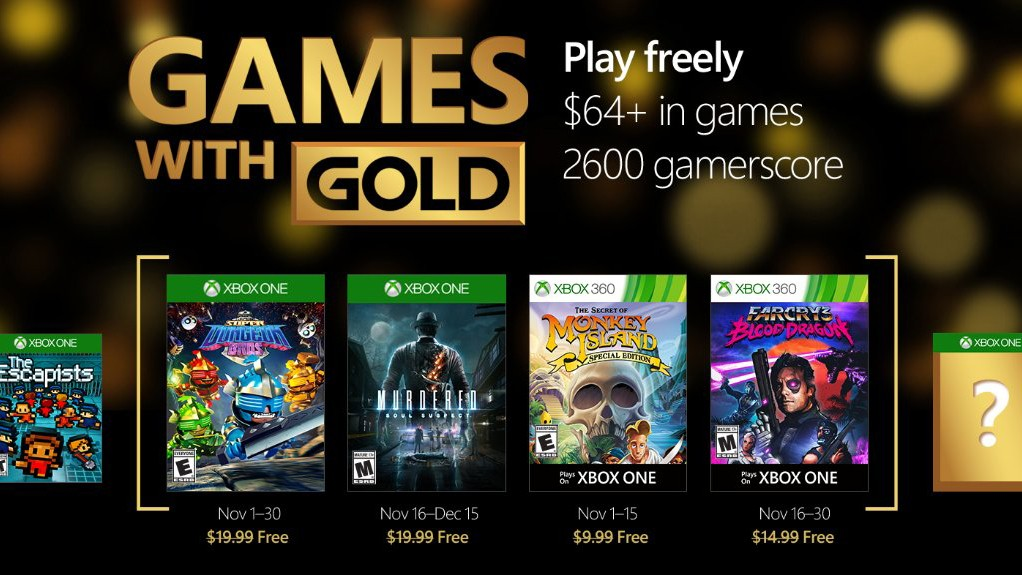 Games with gold de Noviembre 2016
