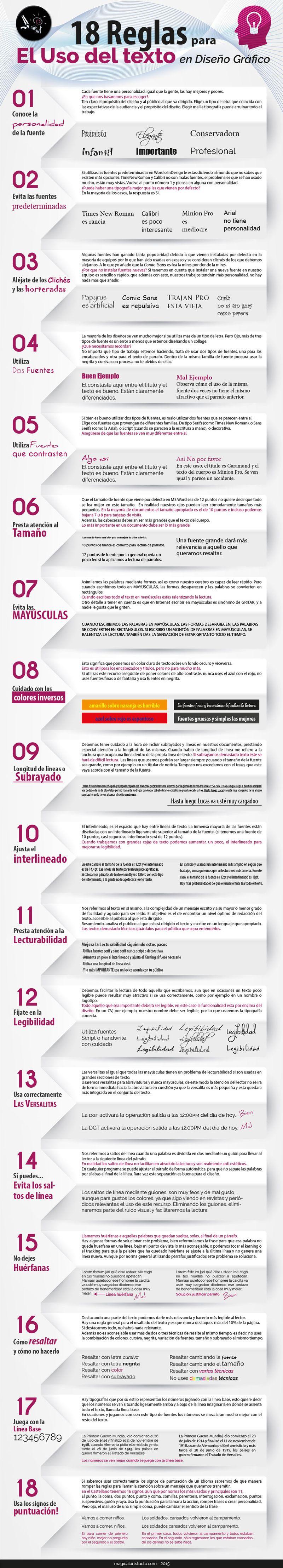 Principios básicos sobre las tipografías