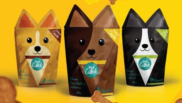 Creativo empaque de comida para perros