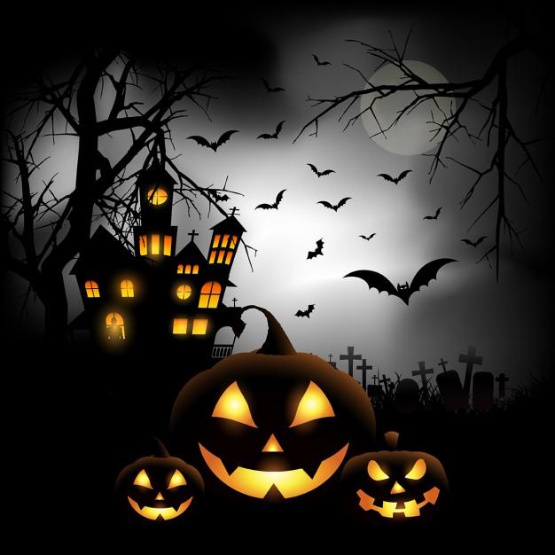 escalofriante-fondo-de-halloween-con-calabazas-en-un-cementerio_1048-3055