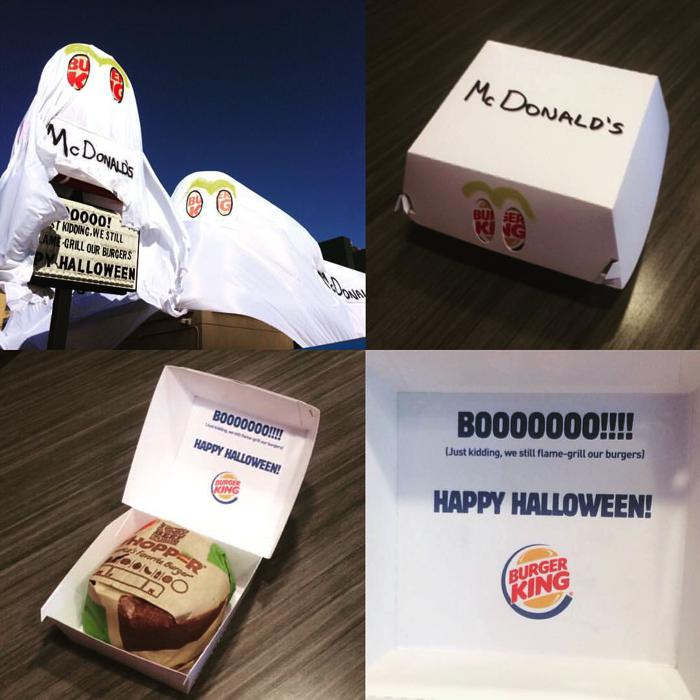 Burguer king se disfraza de McDonalds