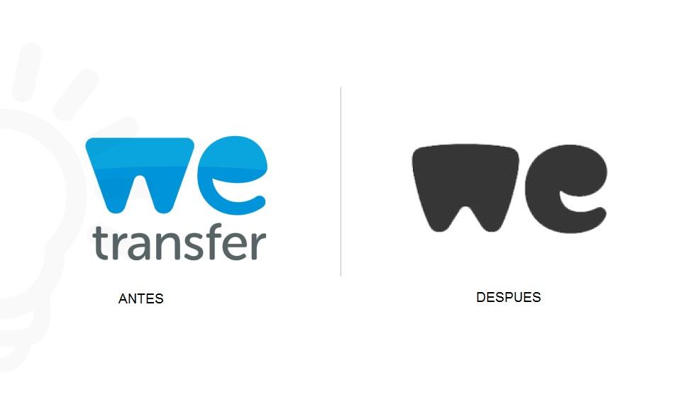 Wetransfer presenta nuevo logo
