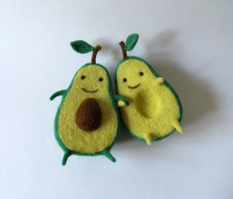esculturas de alimentos hechas con fieltro