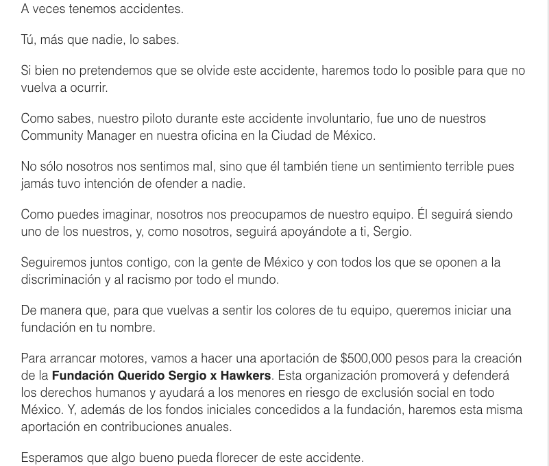Hawkers inicia campaña para reconciliarse con México