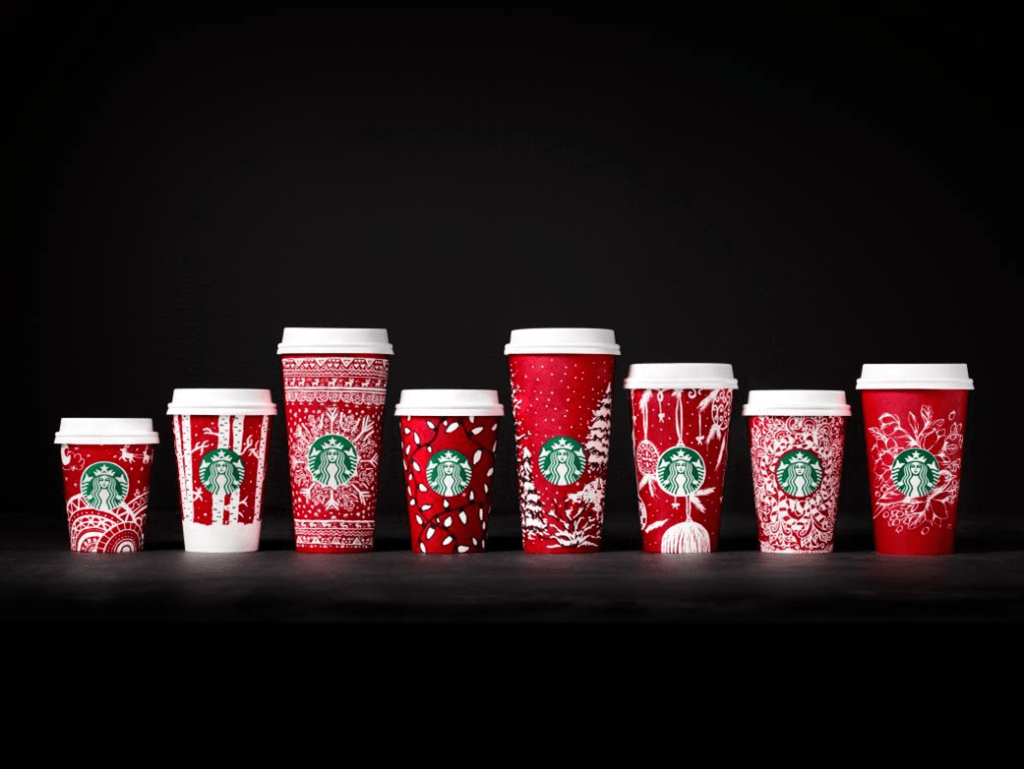 diseños navideños de Starbucks