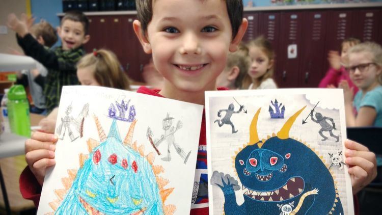 Arte infantil project monster