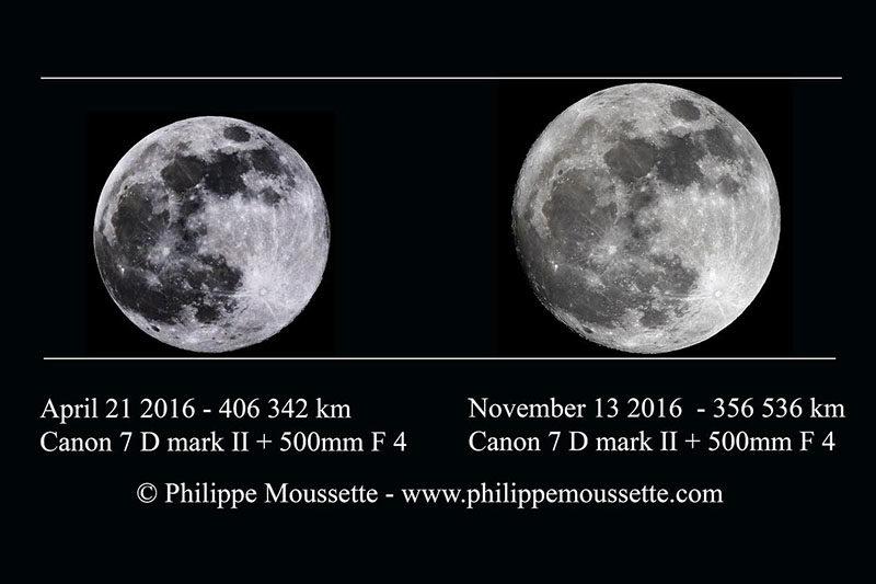 Diferencia entre la Luna y la Super Luna