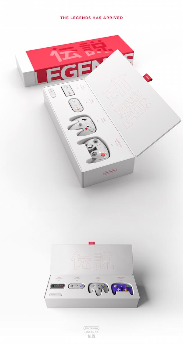 Elegante propuesta de diseño para Nintendo