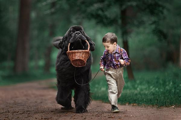 Tiernas fotografías de niños pequeños con sus mascotas