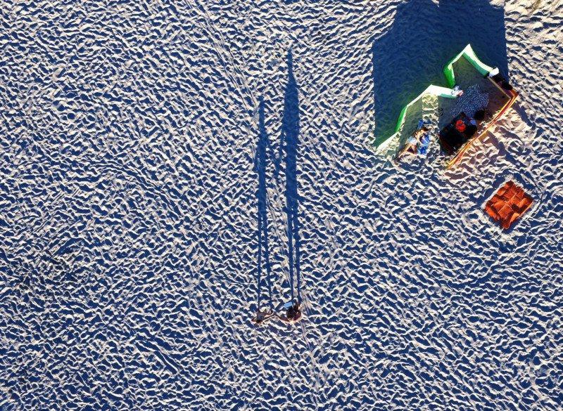 fotografías aéreas tomadas por drones