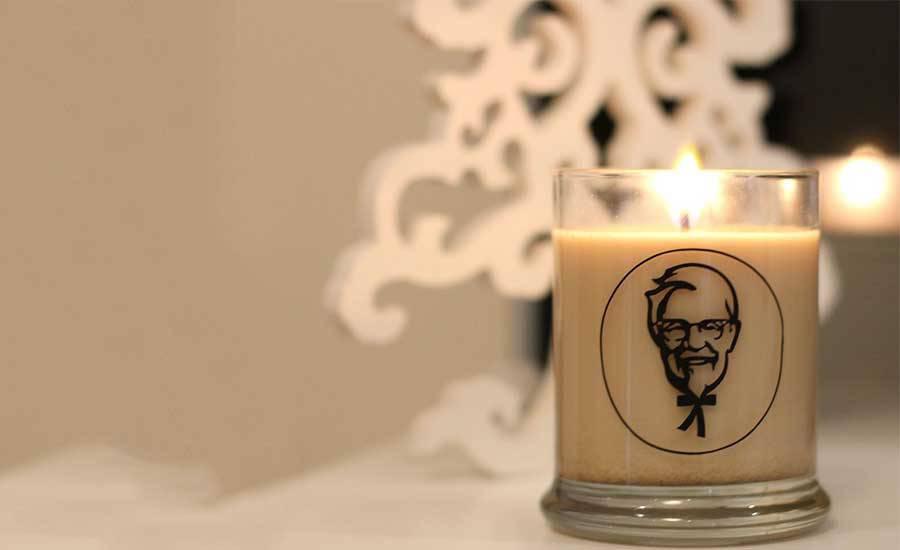 KFC lanza vela navideña con olor a pollo frito