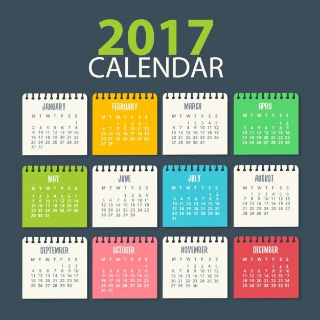 Calendario 20017.Creativos Calendarios 2017 Vectores Gratis Para Inic