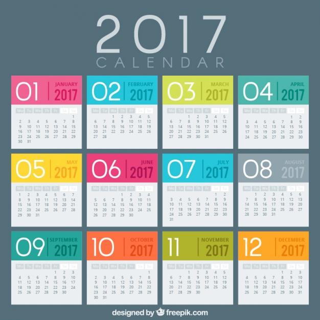 creativos calendarios 2017  vectores gratis para inic