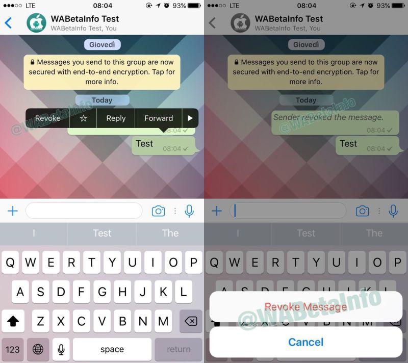 Eliminar mensajes enviados por error en Whatsapp