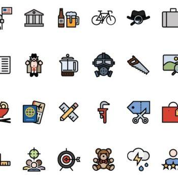 Paquete de 160 iconos para descargar gratis