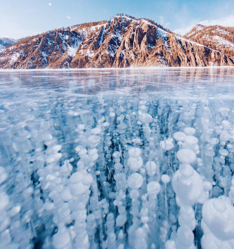 Fotografías de un lago congelado por Kristina Makeeva
