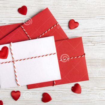 Creativos diseños de sobres de cartas para San Valentín
