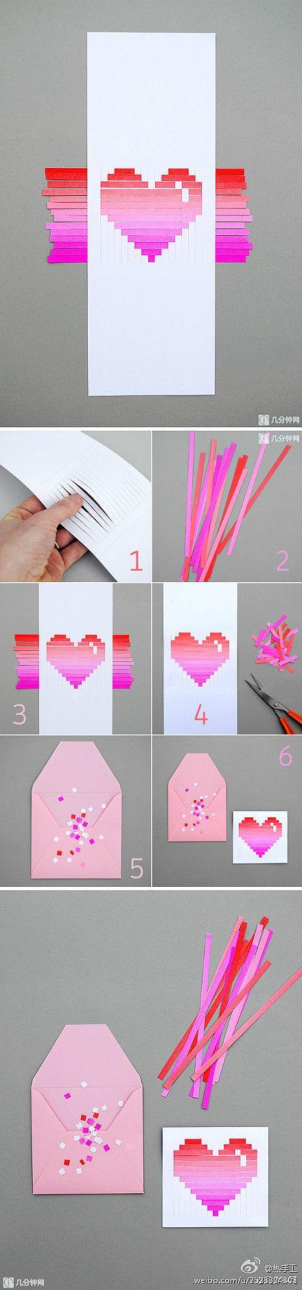 diseños de sobres de cartas para San Valentin